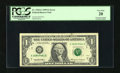 Error Notes:Ink Smears, Fr. 1925-G $1 1999 Federal Reserve Note. PCGS Very Fine 20....