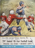 Football Collectibles:Others, 1953 Football Signed All Star Program College vs. Detroit Lions....