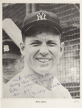 Autographs:Photos, Mickey Mantle Signed Photograph With Personalization....