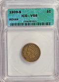 Indian Cents: , 1909-S 1C VG8 ICG. NGC Census: (0/0). PCGS Population (0/666).Mintage: 309,000. (#2239)...