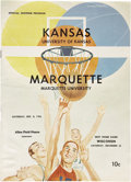 Basketball Collectibles:Programs, Wilt Chamberlain Kansas Program. ...