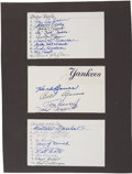 Autographs:Post Cards, Major League Teams Multi Signed Postcards Lot Of 9....