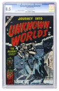 Golden Age (1938-1955):Horror, Journey Into Unknown Worlds #24 (Atlas, 1954) CGC VF+ 8.5 Cream tooff-white pages....