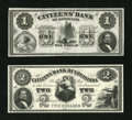 Obsoletes By State:Louisiana, New Orleans, LA- Citizens' Bank of Louisiana $1; $2. ... (Total: 2 notes)