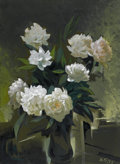 Texas:Early Texas Art - Modernists, XAVIER GONZÁLES (American, 1898-1993). Eight Peonies, 1977.Oil on canvas. 30 x 22 inches (76.2 x 55.9 cm). Initialed an...