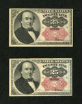 Fractional Currency:Fifth Issue, Fr. 1309 25¢ Fifth Issue About New. Two Examples.... (Total: 2notes)