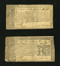 Colonial Notes:Maryland, Maryland April 10, 1774 $2/3 Fine.. Maryland April 10, 1774 $1 VeryFine.... (Total: 2 notes)