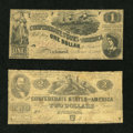 Confederate Notes:1862 Issues, Confederate Deuce and Ace.. ... (Total: 2 notes)
