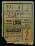 Baseball Collectibles:Tickets, 1936 World Series Game 2 Ticket Stub. ...