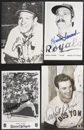 Autographs:Sports Cards, Massive Collection Of Signed Postcards And Photographs....