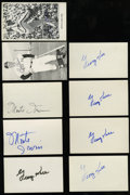 Autographs:Index Cards, Hall Of Fame Baseball Signed Postcards Lot Of 17. ...