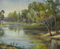 Texas:Early Texas Art - Impressionists, EMILY DILLARD (American, 1879-1968). Untitled (River Scene),1930s-1940s. Oil on canvas. 24 x 30 inches (61.0 x 76.2 cm)...