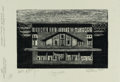 Latin American:Contemporary, LIVIO ABRAMO . (Paraguayan, 1903-1993). Paraguay -- Architectures, 1965. Wood engraving on paper. 12 x 8 inches (30.5 x ...