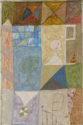 Latin American:Contemporary, THOMAZ IANELLI . (Brazilian, b. 1932). Clutter Quilt.Gouache and graphite on paper. 11-1/4 x 7-3/4 inches (28.6 x 19.7...