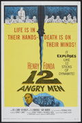 "Movie Posters:Drama, 12 Angry Men (United Artists, 1957). One Sheet (27"" X 41""). Drama....."