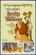 "Movie Posters:Animated, Lady and the Tramp (Buena Vista, R-1962 & 1972). One Sheet (27""X 41"") and Pressbooks (2) and Ad Slicks (Multiple Pages, As...(Total: 4 Items)"