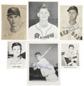 Autographs:Photos, Baseball Signed Photographs Lot Of 57. ...