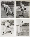 Autographs:Photos, New York Yankee Signed Vintage Photographs Lot Of 8. ...
