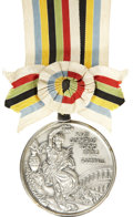 Miscellaneous Collectibles:General, 1964 Tokyo Summer Olympic Games Silver Winner's Medal withPresentation Box - Football/Soccer....