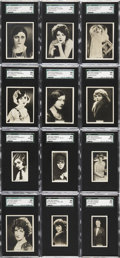 "Non-Sport Cards:Sets, 1925 Rothmans ""Cinema Stars-Large"" (25) and ""Cinema Stars-Small""(24) SGC-Graded Complete Sets.... (Total: 2 set)"