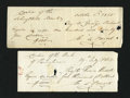 Miscellaneous:Other, Two Handwritten Checks from E.L. Burd, Philadelphia Early 1800s..... (Total: 2 notes)