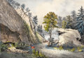 Fine Art - Work on Paper:Print, FRANCES FLORA BOND PALMER (American, 1812-1876). The MountainSpring . Lithograph on paper. 13 x 16 inches (33.0 x 40.6 ...