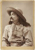 Photography:Cabinet Photos, Cabinet Card: Buckskin Clad Wild West Show Performer....