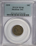 Bust Dimes: , 1830 10C Medium 10C XF40 PCGS. PCGS Population (5/151). NGC Census:(3/148). Mintage: 510,000. Numismedia Wsl. Price for NG...