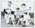 Autographs:Photos, Ted Williams Mickey Mantle And Yogi Berra Multi Signed Photograph....
