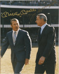 Autographs:Photos, Mickey Mantle And Joe DiMaggio Multi Signed Photograph. ...