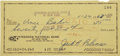 Autographs:Checks, Jackie Robinson Signed Check. ...