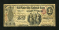 National Bank Notes:Utah, Salt Lake City, UT - $1 Original Fr. 382 The Salt Lake City NB of Utah Ch. # 1921. ...