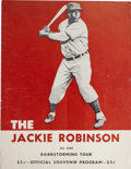 Autographs:Others, Jackie Robinson Barnstorming Program Signed By Minnie Minoso....