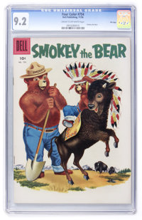 Four Color #754 Smokey the Bear - File Copy (Dell, 1956) CGC NM- 9.2 Cream to off-white pages