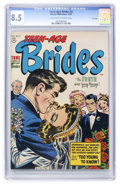 Golden Age (1938-1955):Romance, Teen-Age Brides #2 File Copy (Harvey, 1953) CGC VF+ 8.5 Light tan to off-white pages....