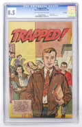 Golden Age (1938-1955):Non-Fiction, Trapped! #nn File Copy (Harvey, 1951) CGC VF+ 8.5 Light tan tooff-white pages....