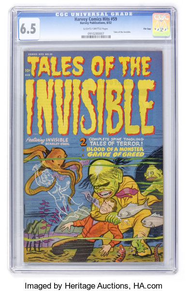 Harvey Comics Hits #59 Tales of the Invisible - File Copy (Harvey