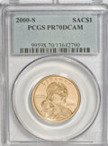 Sacagawea Dollars, 2005-P $1 SMS MS68 NGC and a 2000-S PR70 Deep Cameo PCGS....(Total: 2 coins)