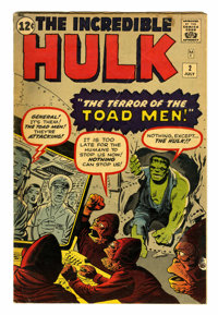 The Incredible Hulk #2 (Marvel, 1962) Condition: VG+