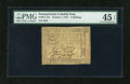 Colonial Notes:Pennsylvania, Pennsylvania October 1, 1773 2s PMG Choice Extremely Fine 45EPQ....