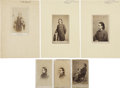 Photography:CDVs, Group of Five Carte de Visite Portraits of Edwin Booth and One of His Infamous Brother John Wilkes.... (Total: 6 Items)