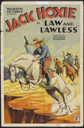 """Movie Posters:Western, Law and Lawless (Majestic, 1932). One Sheet (27"""" X 41""""). Western.. ..."""