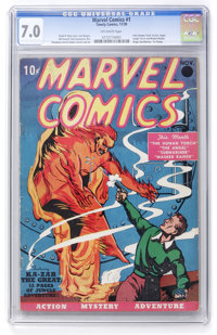 Marvel Comics #1 (Timely, 1939) CGC FN/VF 7.0 Off-white pages