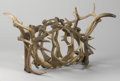 Furniture , AN ANTLER HORN TABLE BASE. 19-3/4 x 32 x 19 inches (50.2 x 81.3 x 48.3 cm). ...
