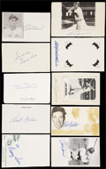 Autographs:Index Cards, Baseball Hall Of Fame Signed Cards Lot Of 20....