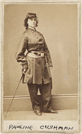 "Photography:CDVs, Scarce Carte de Visite Portrait of the ""Union Spy and Scout"" Pauline Cushman by Brady/Anthony...."