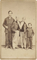 "Photography:CDVs, Scarce Carte De Visite of the Famed ""Siamese Twins"" Changand Eng with Two of their Sons...."