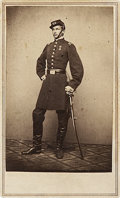 Photography:CDVs, Exceptional Carte de Visite Portrait of French Civil War Military Observer The Duc de Chartres, Robert Philippe Lo...