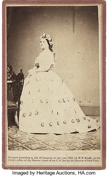 PhotographyCDVs Brady Anthony Carte De Visite Portrait Of Mary LincolnRather