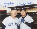 "Autographs:Photos, Mickey Mantle And Whitey Ford Signed 8"" x 10"" Photograph...."